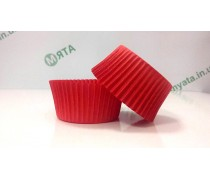 Бумажная форма для кексов Красная 50х30 мм