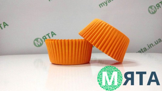 Бумажная форма для кексов Оранжевая 50х30 мм