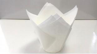 Бумажная форма Тюльпан Белый