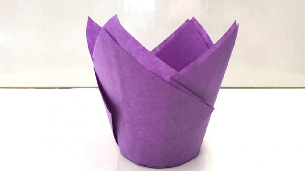 Бумажная форма Тюльпан Сиреневый