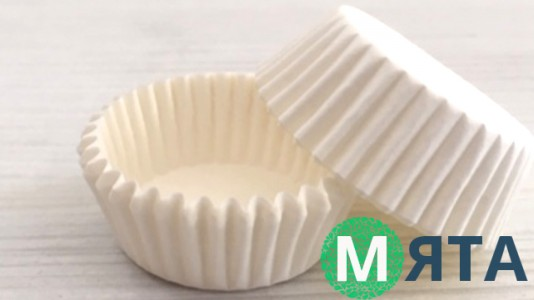 Бумажные формочки для конфет Белые