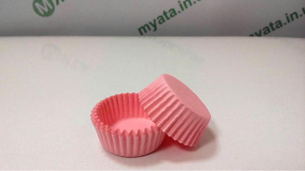 Бумажные формочки для конфет Розовые