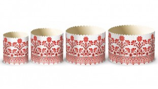 Бумажные формы для куличей Вышиванка №5