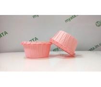 Бумажные формы с бортиком Розовые