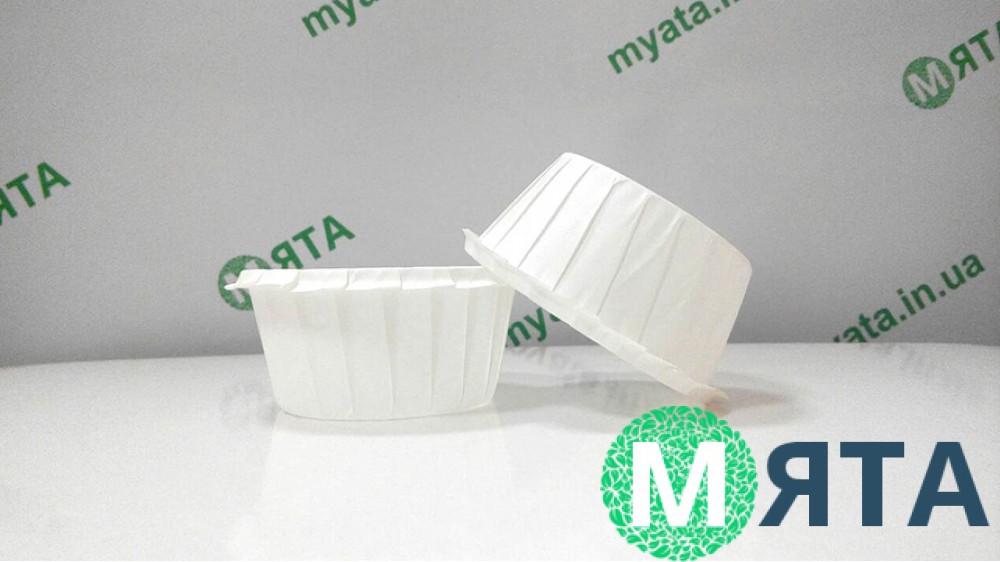 Бумажные формы с бортиком Белые