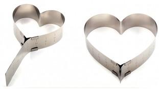 Раздвижная форма для гарнира и бисквита Сердце