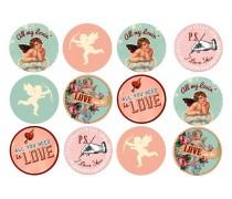 Картинки для капкейков День Св. Валентина