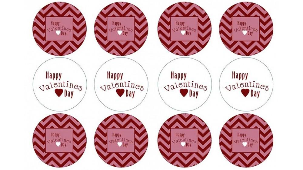 Картинки для капкейков День Влюбленных