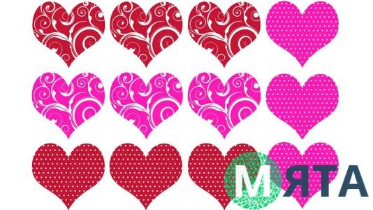 Картинки-сердечки для печенья и пряников