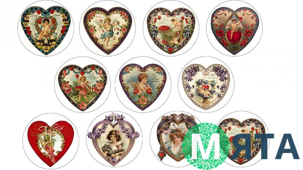 Валентинки для пряников и печенья 2
