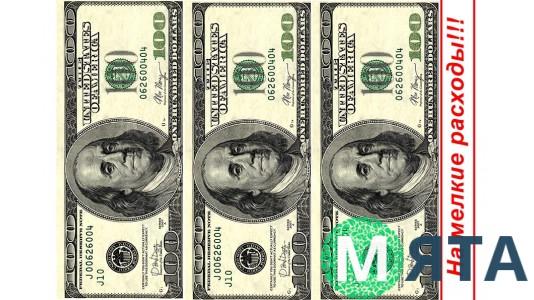 Картинка 100$ На мелкие расходы
