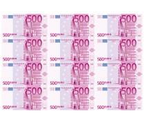 Картинка 500 евро (12 купюр)