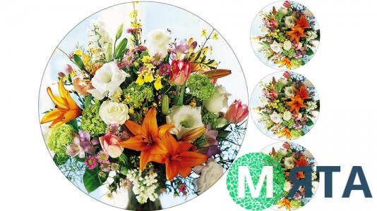 Съедобная картинка Цветы 4