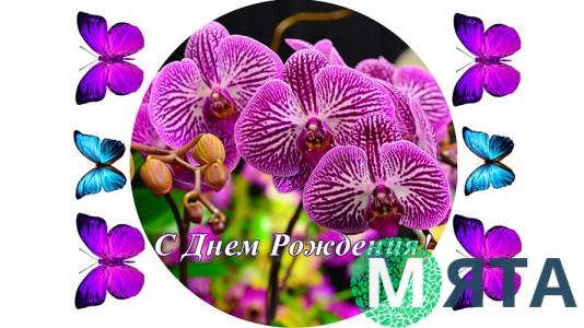 Съедобная картинка Цветы 10