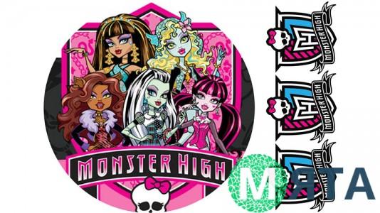 Monster High для круглого торта