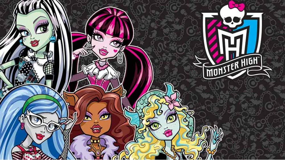 Monster High на сером фоне