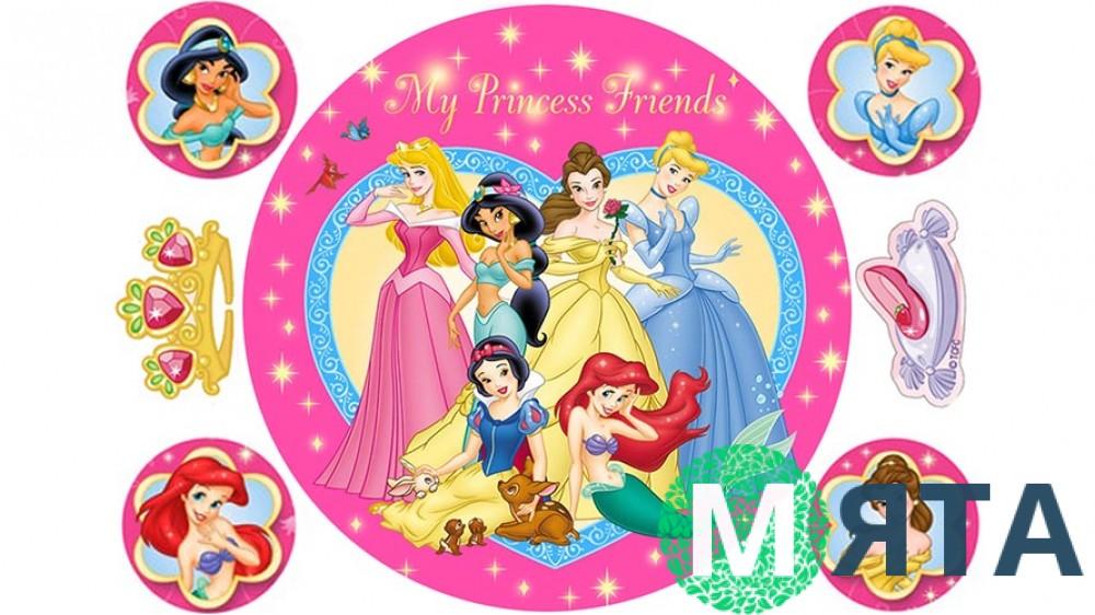 Принцессы для круглого торта