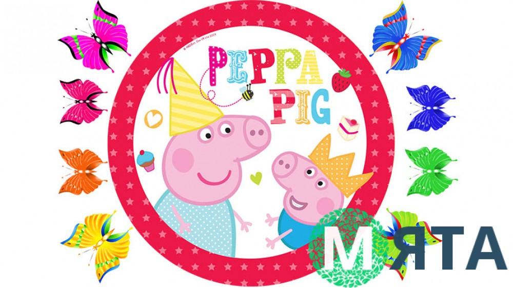 Свинка Пеппа для круглого торта