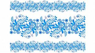 Голубой орнамент