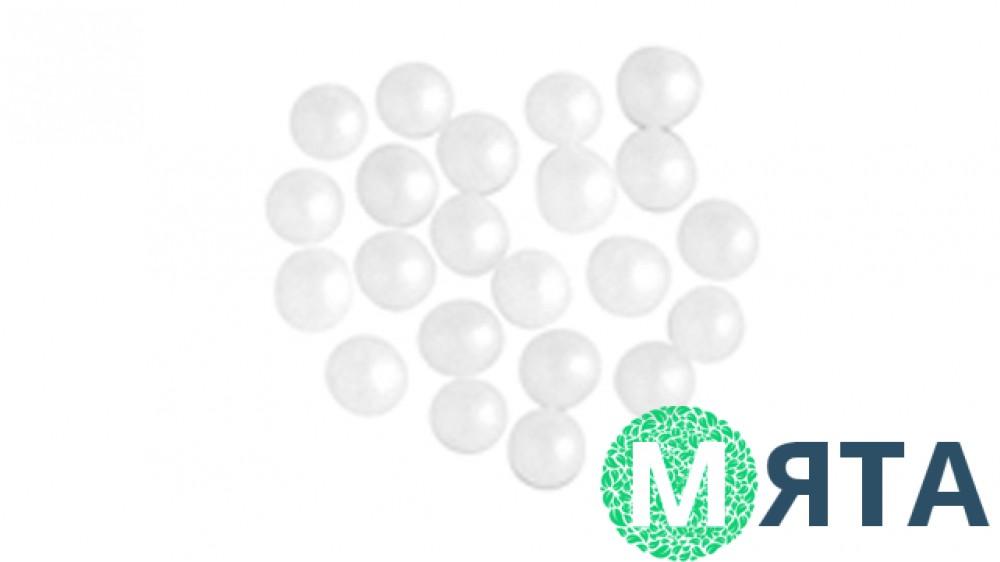 Сахарные шарики Жемчуг белый 5-10 мм