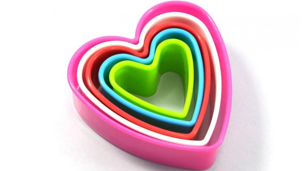 Вырубки Сердечки. 5 штук