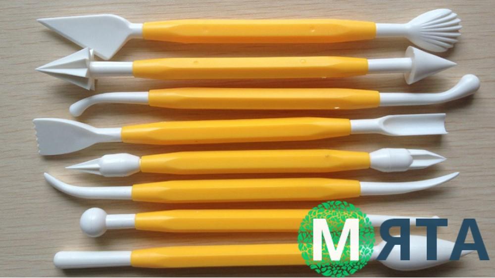 Набор пластиковых стеков для мастики. 8 штук