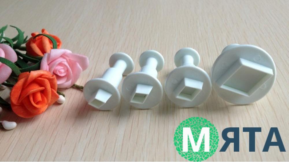 Плунжеры для мастики Ромбы. 4 штуки