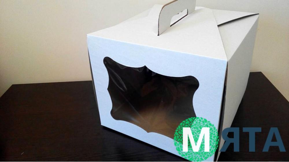 Коробка для торта с окном
