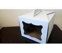 Коробка для торта с окном 30х30х25