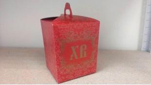 Коробка для кулича. Красная