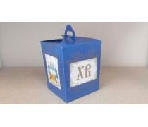Коробка для кулича. Синяя