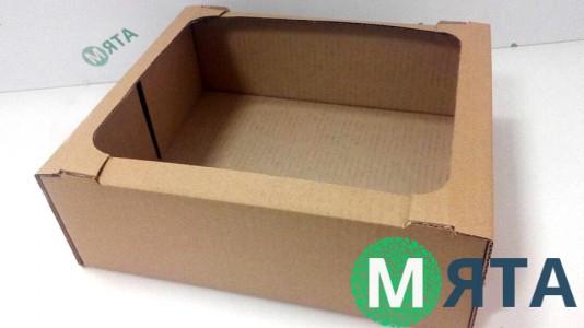 Коробка-лоток для кондитерских изделий 28х23х9 см