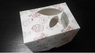 Коробка на 1 капкейк с принтом