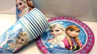 Набор праздничной посуды Холодное Сердце
