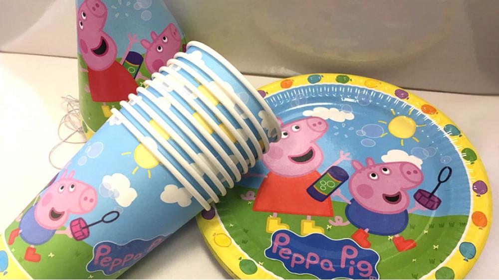 Набор праздничной посуды Свинка Пеппа