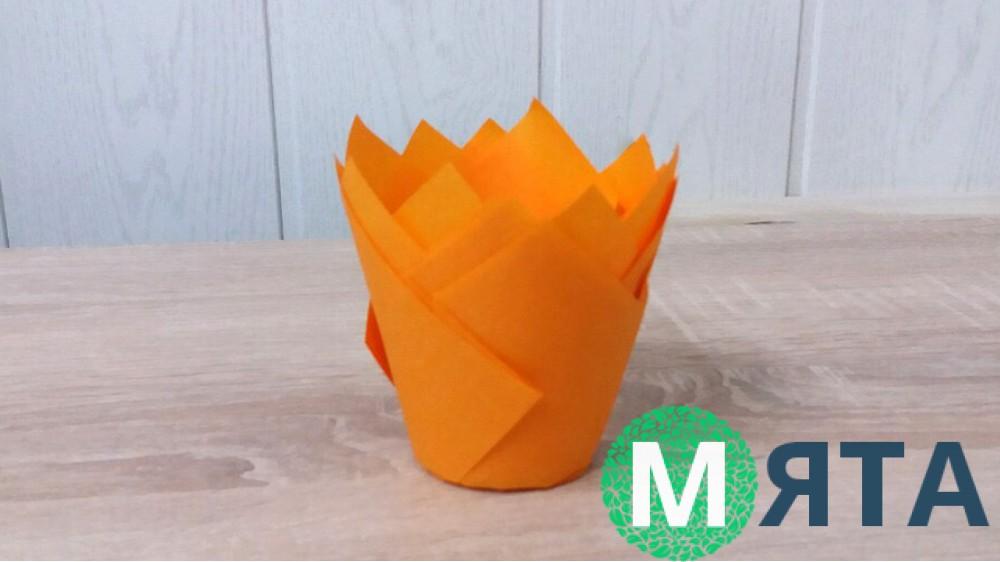 Бумажная форма Тюльпан Оранжевый