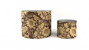 Бумажные формы для куличей Цветы, 70х85 мм
