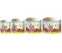 Бумажные формы для куличей Цветы №3