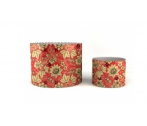 Бумажные формы для куличей Красные Цветы, 90х90 мм