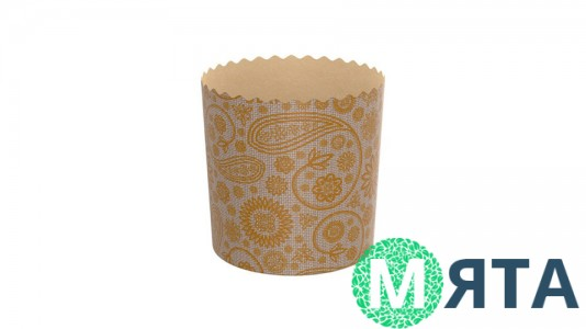 Бумажные формы для куличей №5-3 70х55 (80 грамм)