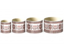 Бумажные формы для куличей Вышиванка №4
