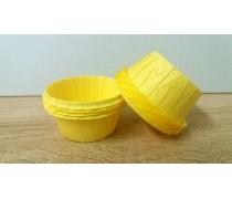 Бумажные формы с бортиком Желтые