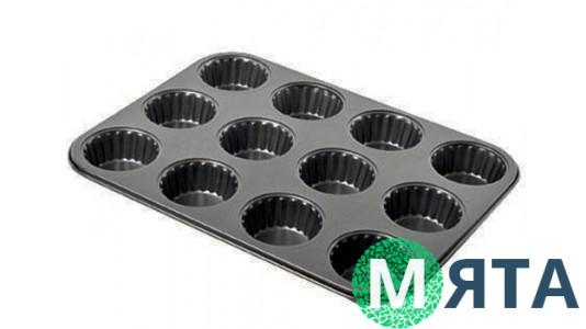 Форма для выпечки Маффины с рифленным краем, 12 ячеек