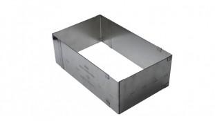 Раздвижная форма для бисквита Прямоугольник, 10 см