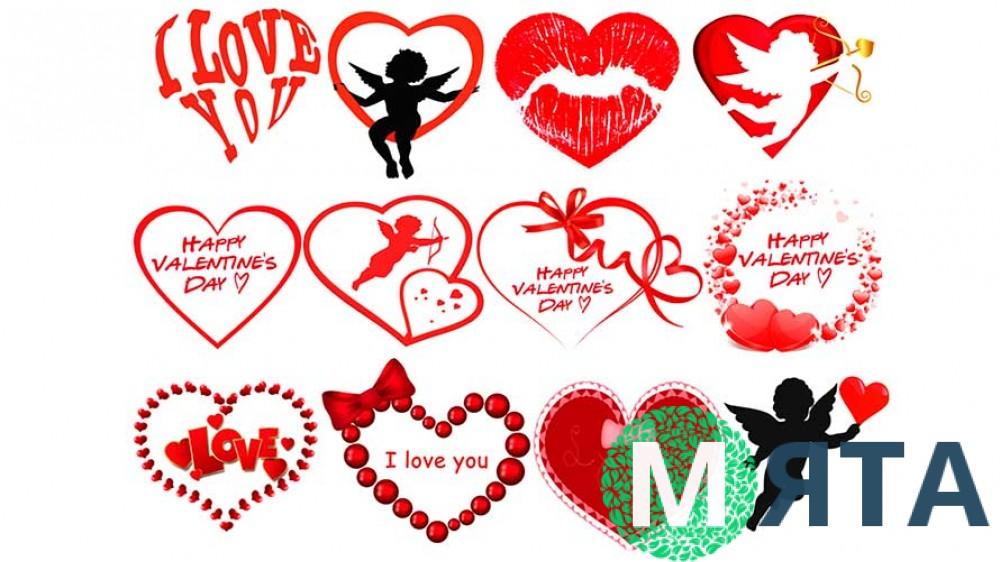 Съедобная картинка День Влюбленных 10
