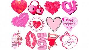 Съедобная картинка День Влюбленных 12