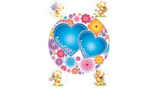 Съедобная картинка на торт и капкейки Сердца