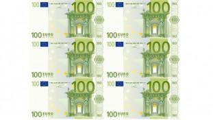 Съедобная картинка 100 евро, 6 купюр