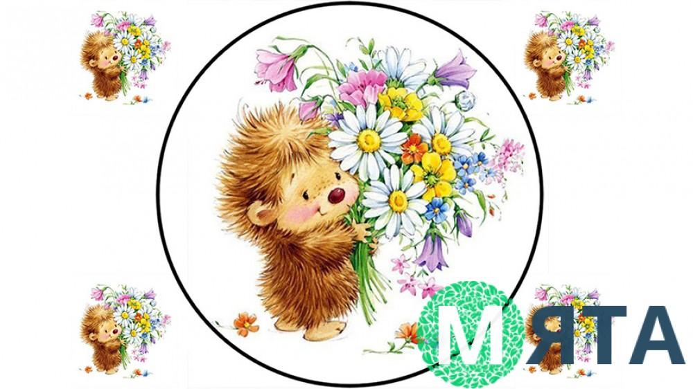 Съедобная картинка Цветы 15