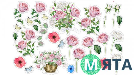 Съедобная картинка Цветы 14